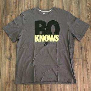 """Gray Nike """"Bo Knows"""" Shirt"""